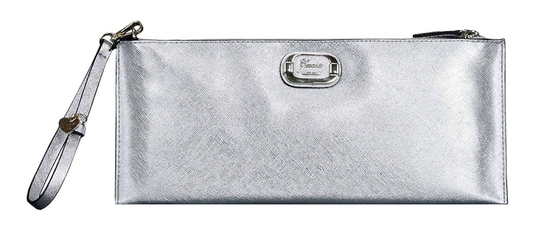 Guess La Rae Silver Medium Zip Clutch Bag  Amazon.co.uk  Clothing cac66321908fc
