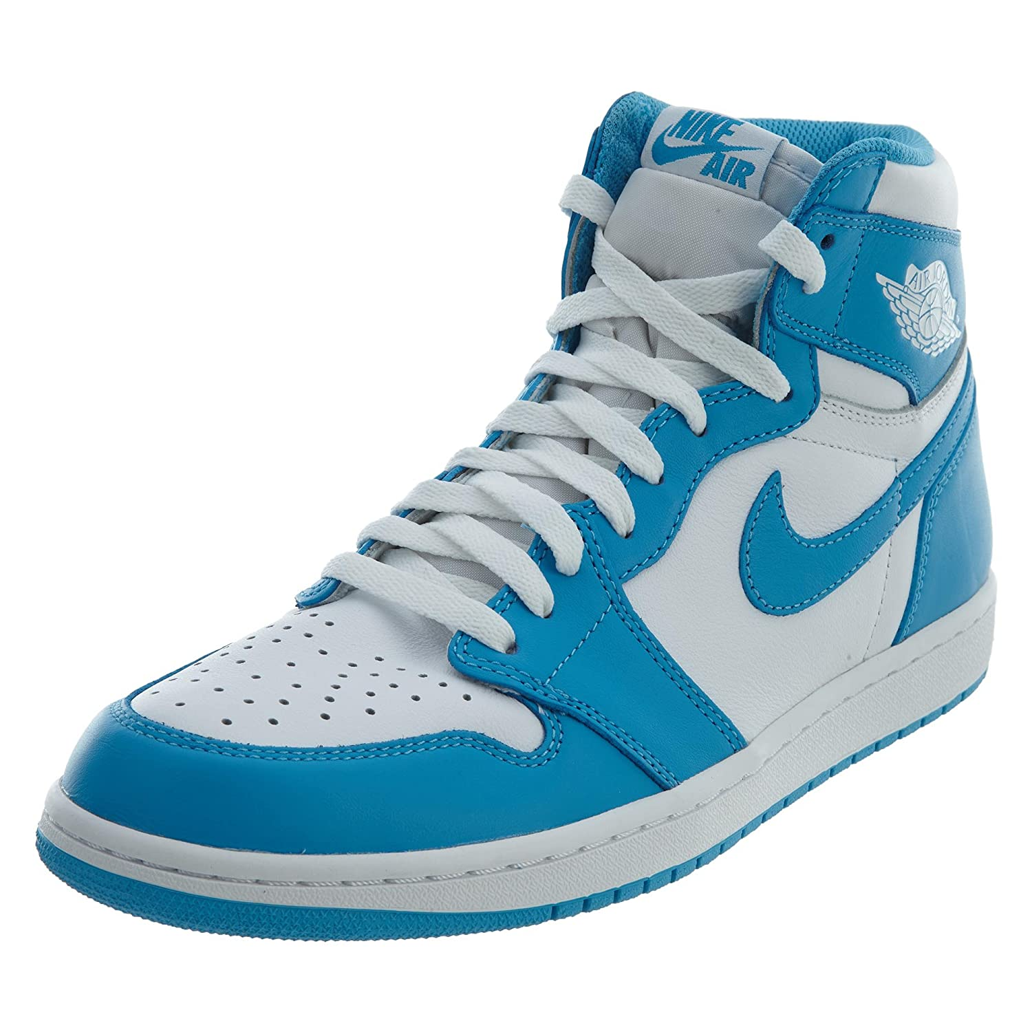 online retailer cbe65 3ee51 NIKE NIKE Air Jordan Retro 1 High OG Sneakers UNC QS White Powder Blue  555088-117  Buy Online at Low Prices in India - Amazon.in
