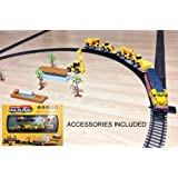 Kids Motorised Train Set with Accessories SOUNDS LIGHTS BATTERY OPERATED Ages 3+