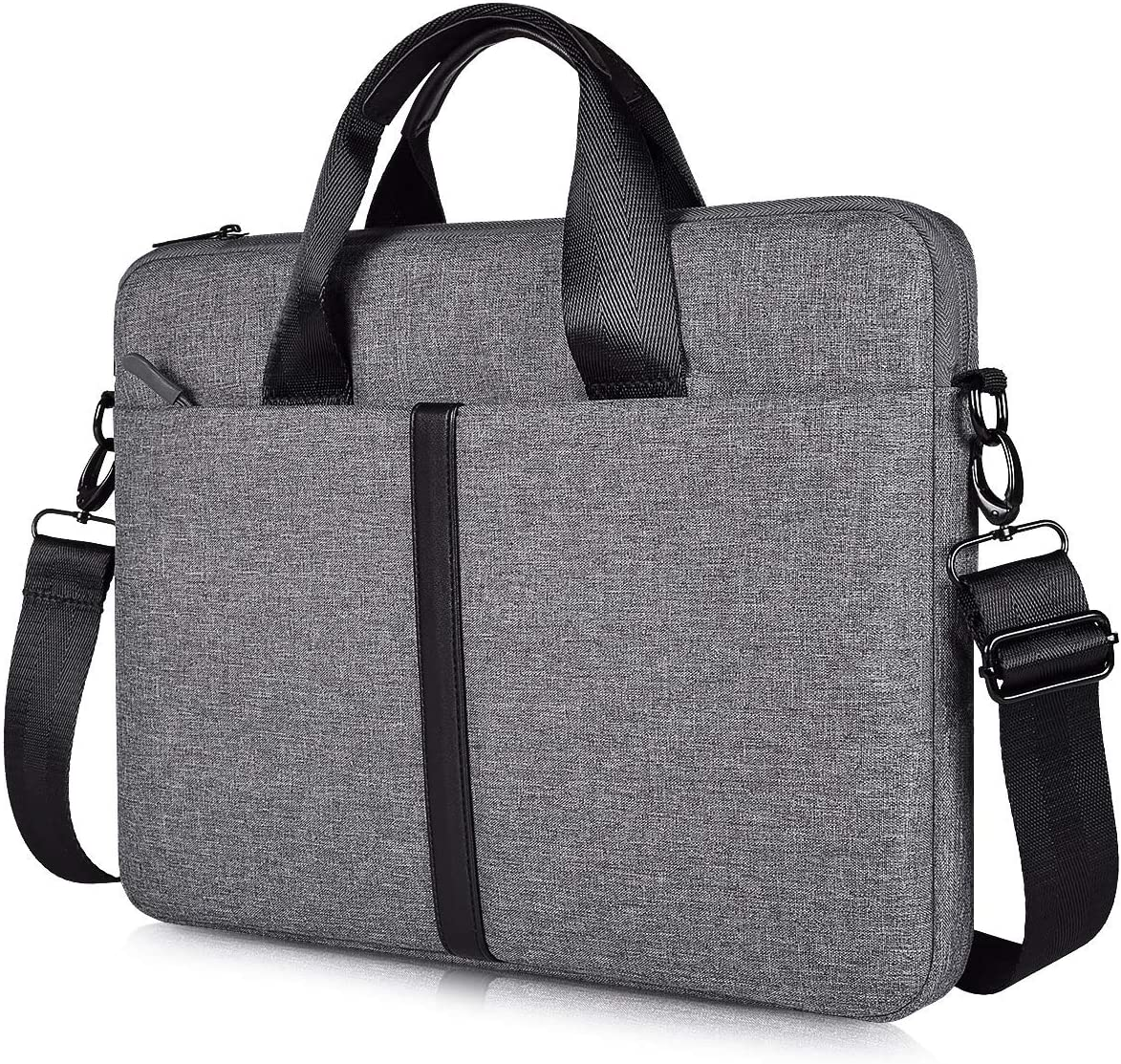 17.3 inch Laptop Shoulder Bag, Slim Waterproof Durable Business Briefcase Bag for 17.3 inch HP Dell Lenovo ASUS ACER MSI Notebook, Gifts for Men Women, Space Grey