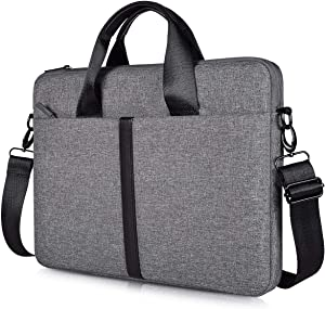 "15.6"" Waterproof Laptop Shoulder Bag for Acer Chromebook 15/Aspire E15, HP Spectre X360 15.6, ASUS VivoBook, Toshiba, Dell Inspiron, Lenovo, MSI, Notebook Slim Briefcase Bag Case, Space Grey"