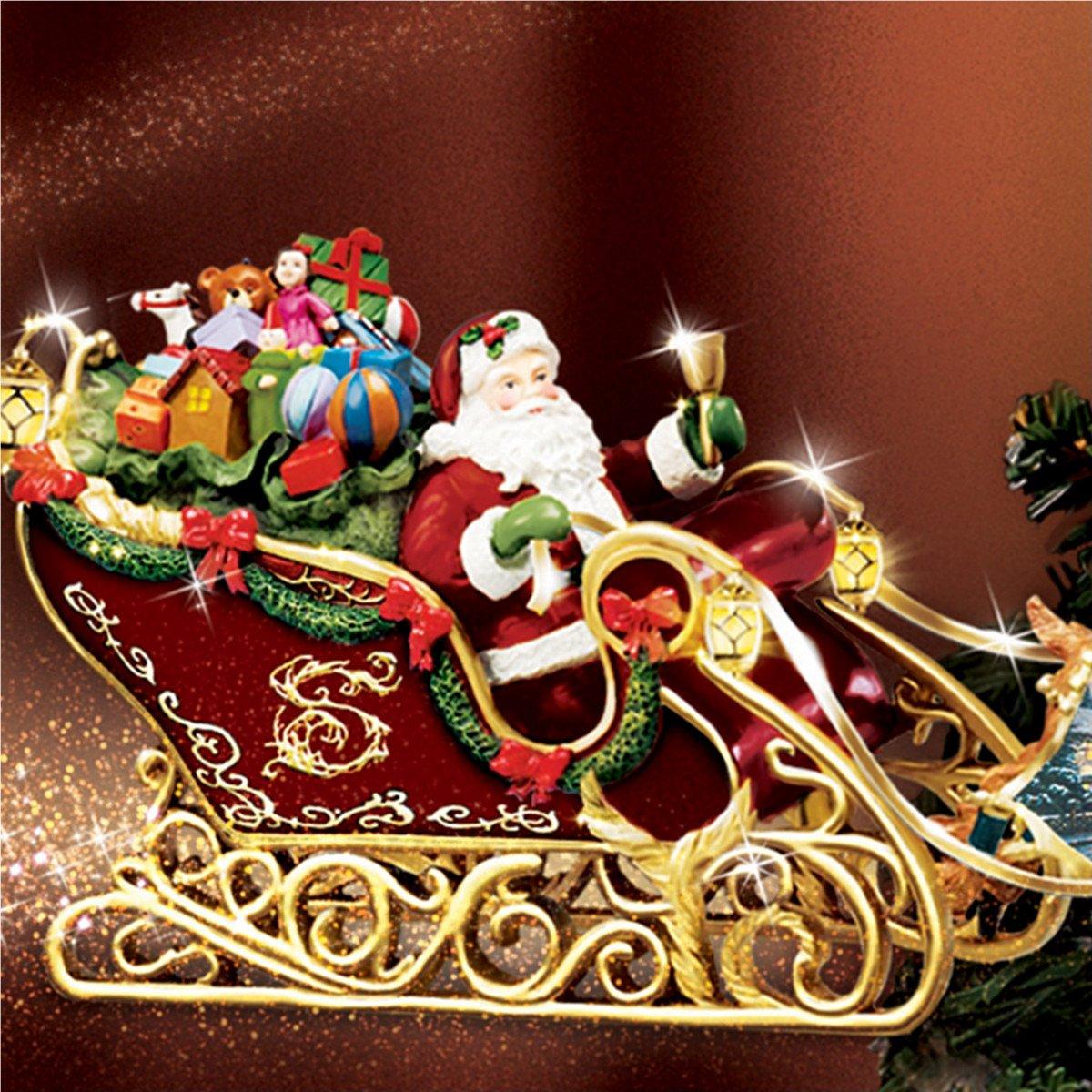 Bradford christmas ornaments - Amazon Com Thomas Kinkade Holidays In Motion Rotating Illuminated Treetopper Animated Christmas Decor By The Bradford Editions Home Kitchen