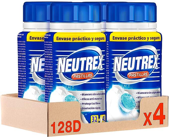 Neutrex Pastillas Efecto Lejía – Pack de 4, Total: 128 Pastillas ...