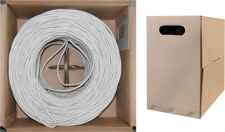 Stranded 1pk White ACCL 1000ft Cat6 UTP Ethernet Cable Pullbox