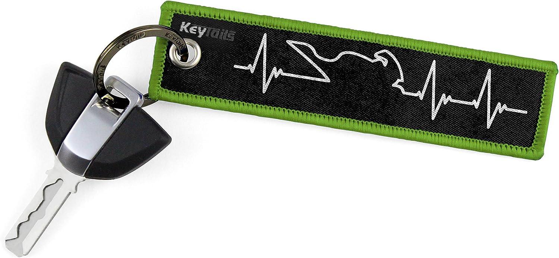 Car ATV UTV Premium Quality Key Tag for Motorcycle KEYTAILS Keychains Sportbike - Heartbeat Scooter