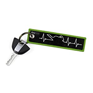 KEYTAILS Keychains, Premium Quality Key Tag for Motorcycle, Car, Scooter, ATV, UTV [Sportbike - Heartbeat]
