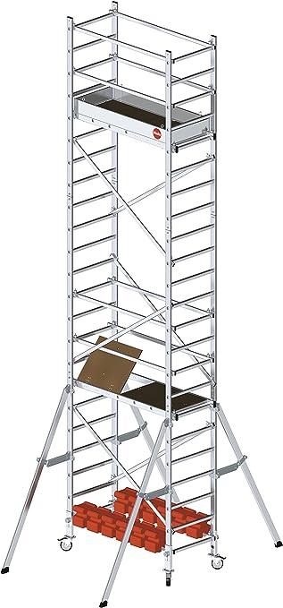 Hailo 9905-201 ProfiStep multi Aufstockung 1 Und 2 Set Inkl Aluminium-Fahrger/üst