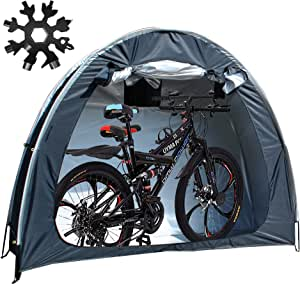 Bike Tent Bicycle Storage Shed - Bike Storage Shed Bicycle Storage Tent - 210D Oxford Fabric Outdoor Bike Storage Waterproof Cover