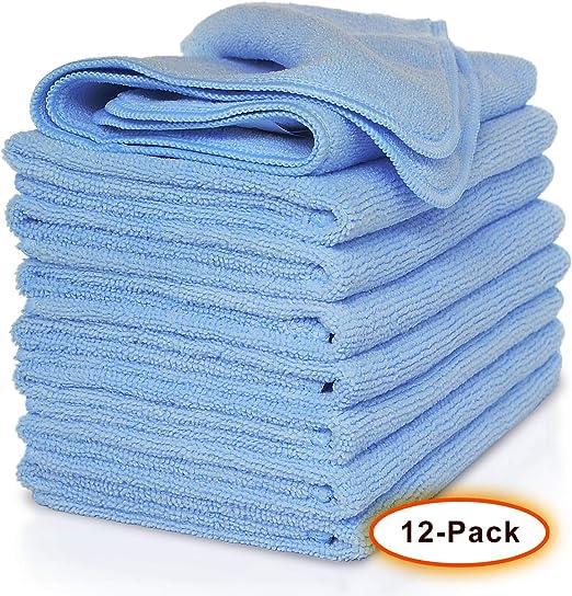 StreakFree Spot Free Lint Free Streak Free Microfiber Cloths 12 PACK