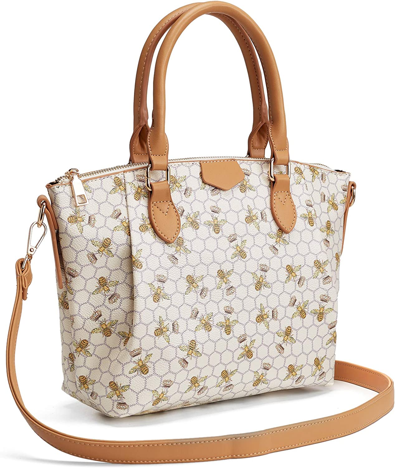 Handbags for Women Top Handble Purse with Large inner Pockets and Detachable Shoulder Strap