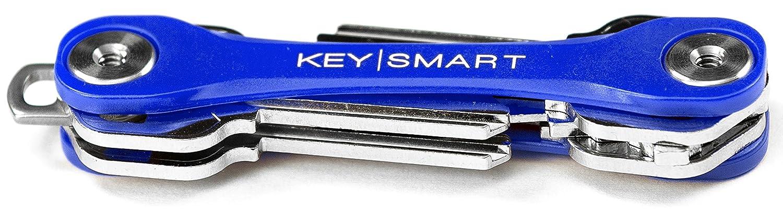 Compact Key Holder and Keychain Organizer up to 8 Keys, Blue KeySmart Lite