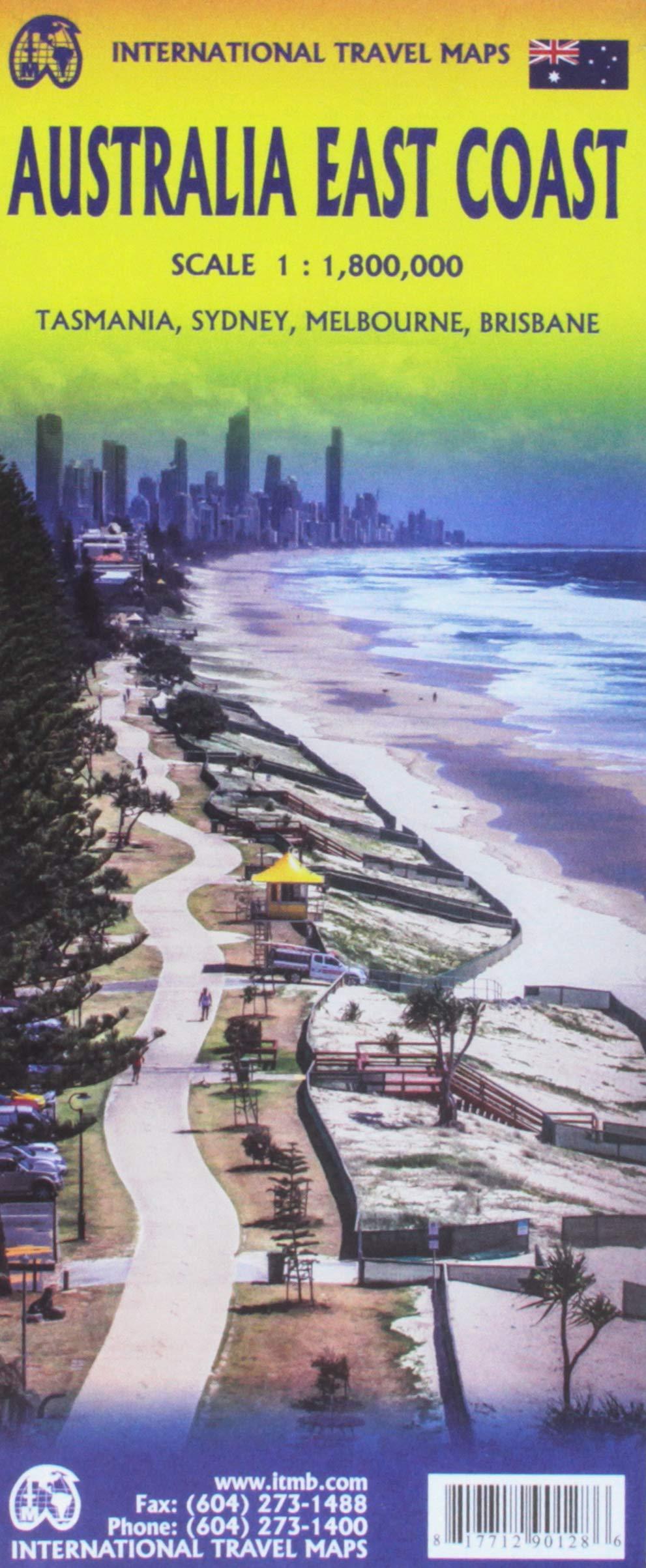 Map Of East Coast Of Australia.Australia East Coast Travel Reference Map Itmb Publishing