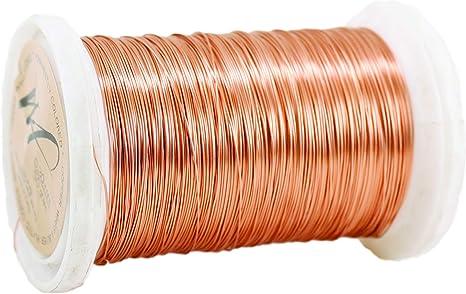 Copper, 22gauge BEADNOVA Bare Copper Wire Tarnish Resistant Jewelry Making Wire