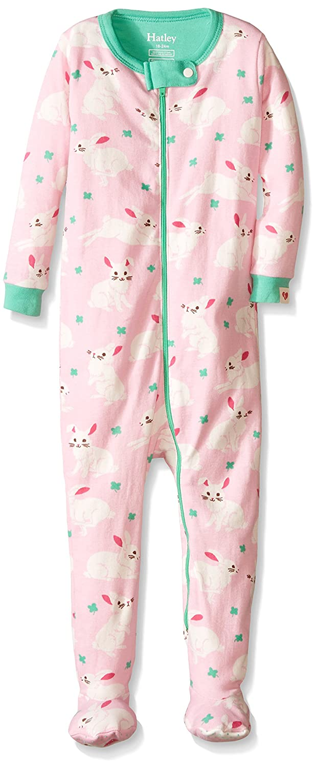 Hatley Baby Girls 0-24m Infant Footed Coverall Spring Bunnies Footies Multicoloured (Pink) 18-24 Months DR5WIRA021