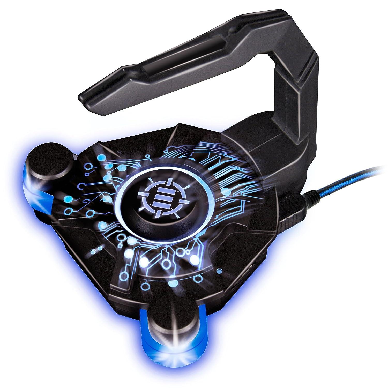 Bungee Gaming LED RGB ENHANCE para ratón. USB hub de 4 Puertos. Mejora tu Experiencia Jugando y Protege el Cable de tu ratón Gamers Profesionales. ...