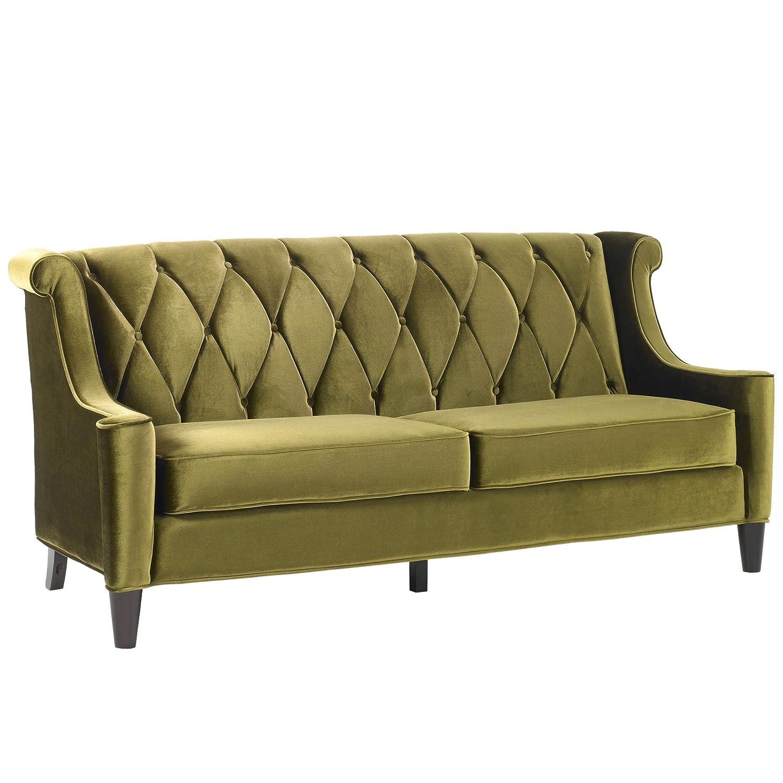 Amazon Armen Living LC8443GREEN Barrister Sofa in Green