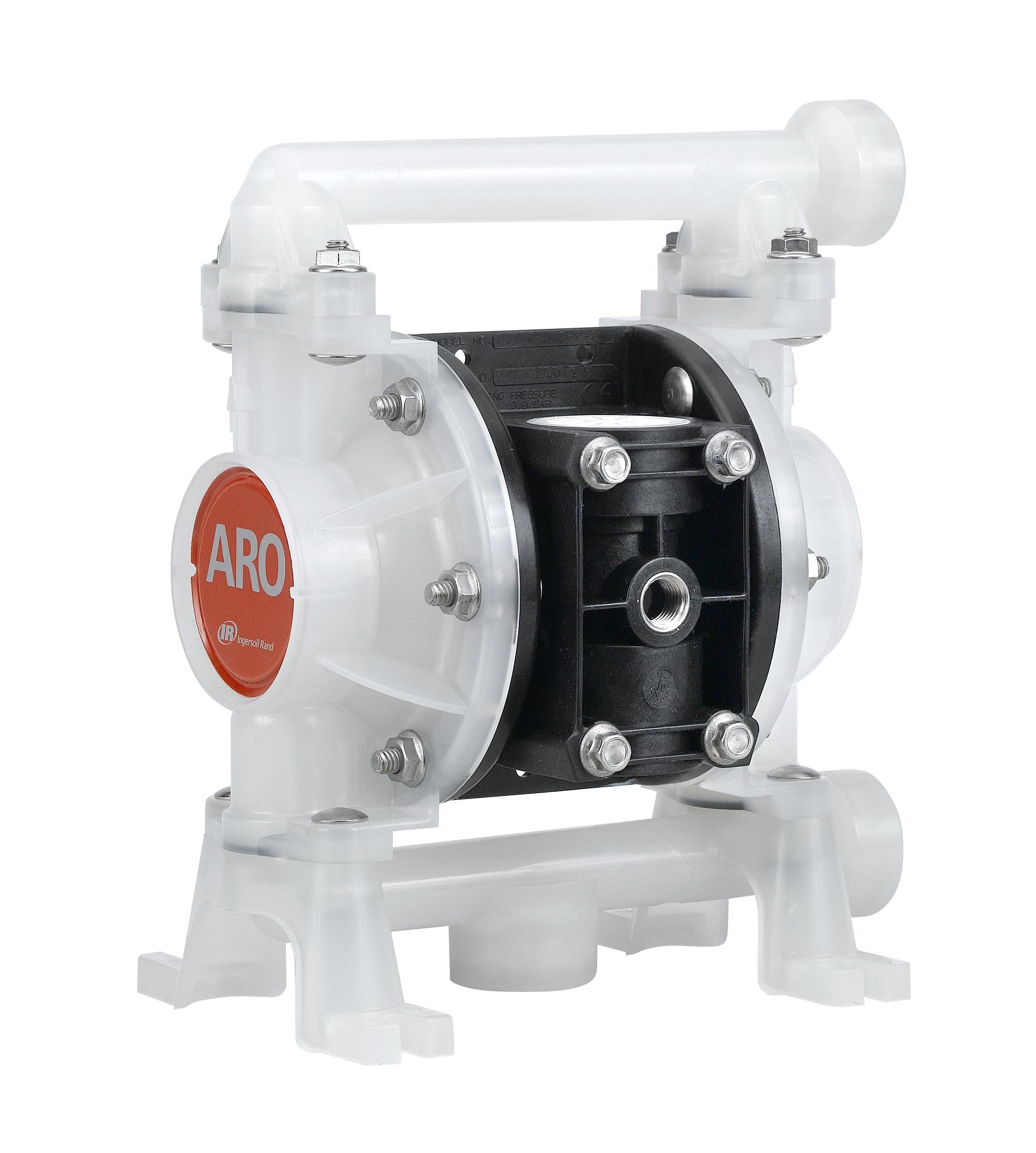 ARO PD03P-APS-PTT Polypropylene PTFE Single Double Diaphragm Pump, 10.6 gpm, 100 psi