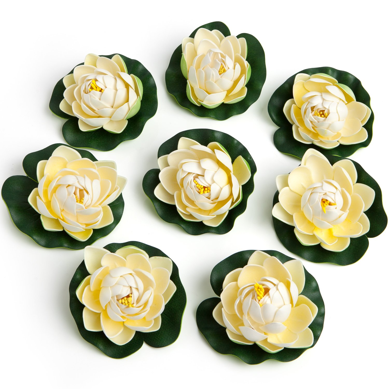 Amazon.com: BEST FLOATING FLOWERS SET of 8 for Weddings - Pools ...