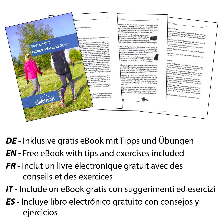 Bastones de caminata nórdica carbon - con bolsa I Bastones de marcha para hombres y mujeres, ajustables | Postes telescópicos con características ...
