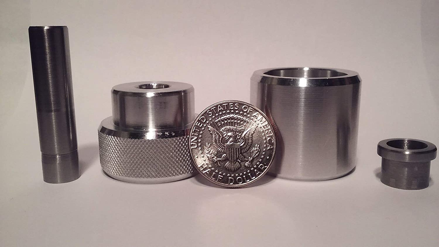 $10 off Sale Coin Ring Center Punch for 50 Cent Piece Comes with 1//2 Punch and Die Set.