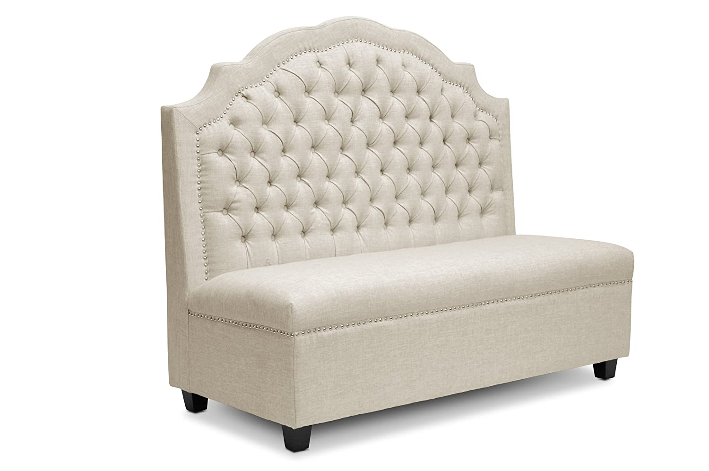 Amazon.com: Baxton Studio TSF 71025 Bench Beige Trumbull Linen Modern Settee,  Beige: Kitchen U0026 Dining