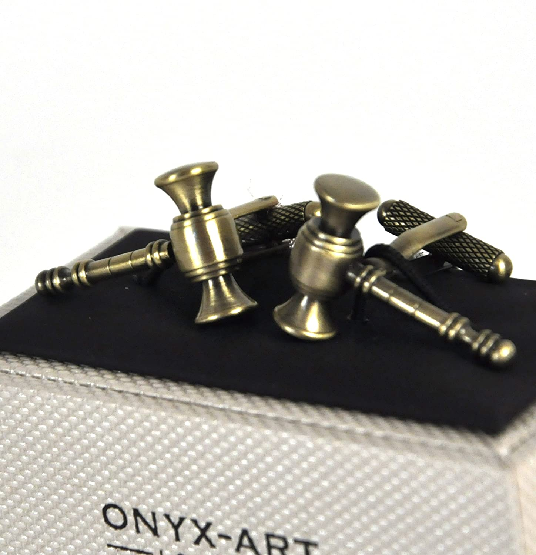Onyx Art Cufflinks Auctioneer//Judge Gavel