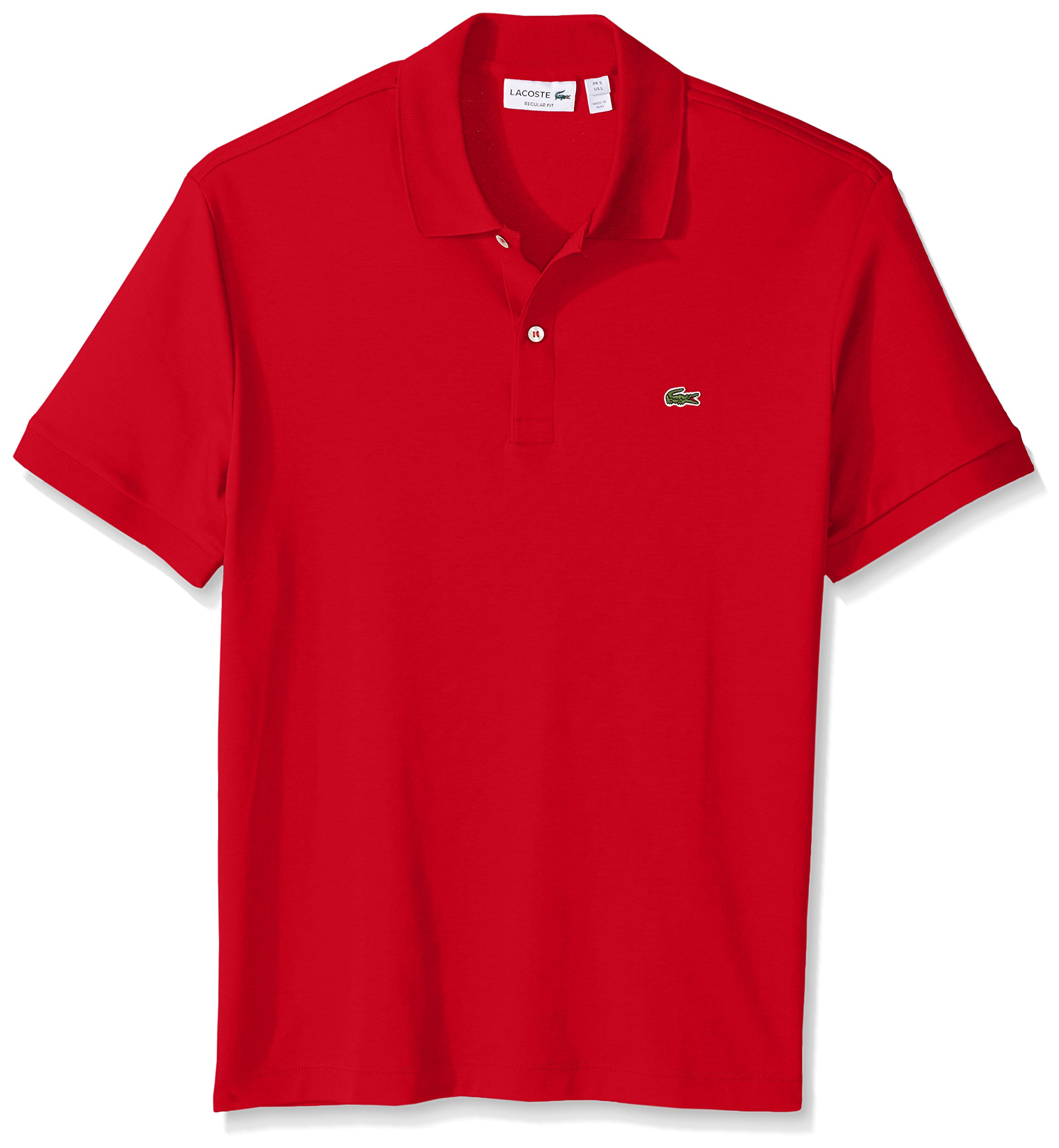 51bd6e02 Galleon - Lacoste Men's Short Sleeve Pima Jersey Interlock Regular Fit Polo,  Red, XX-Large