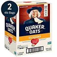 Amazon.com deals on 2-Pack Quaker Old Fashioned Rolled Oats 64oz 90 Servings
