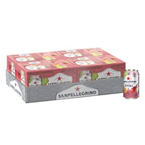 Sanpellegrino Prickly Pear and Orange Italian Sparkling Drinks, 11.15 fl oz. Cans (24 Count)