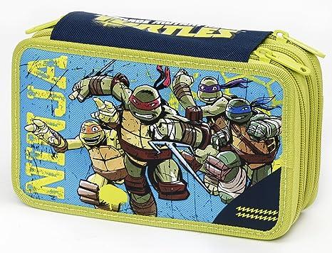 e716f2a466 Giochi Preziosi - Tartarughe Ninja Astuccio Triplo con Colori, Pennarelli  ed Accessori Scuola
