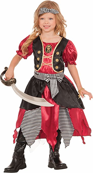 Forum Novelties Girls Buccaneer Princess Costume, Multicolor, Medium