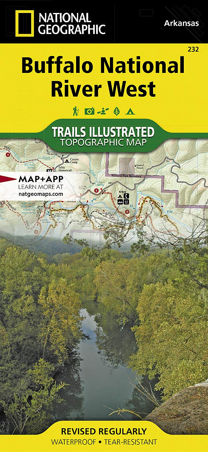 Boxley Valley Arkansas Map.Buffalo National River West National Geographic Trails Illustrated
