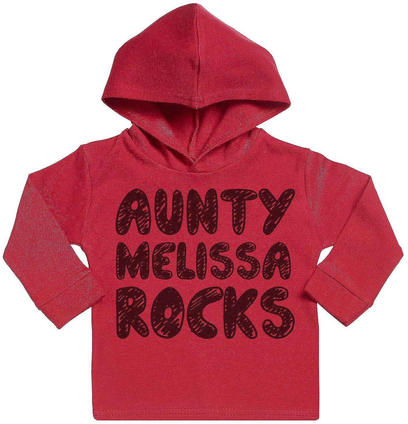 SR Personalised Aunty Rocks Custom Print Cotton Baby Hoodie Personalised Baby Clothing Personalised Baby Gift