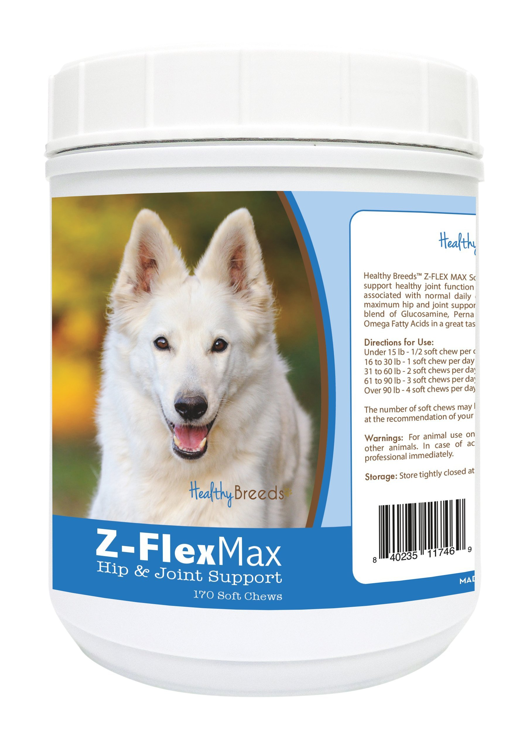 Healthy Breeds Z Flex Dog Hip And Joint Support Soft Chews For German Shepherd - Over 80 Breeds - For Small Medium & Large Pets - Max & Minis 50/60/170 Count by Healthy Breeds