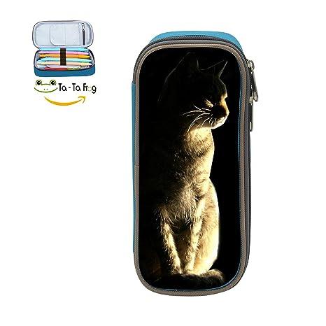 Amazon.com: Niños Dawn gato impresión 3d estuche escolar ...