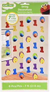 amscan Party Decorations, 1's, Multi Color, 6 6