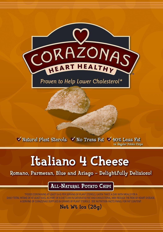 Amazon.com: CORAZONAS Heart Healthy Slightly Salted Potato Chips, 1 ...