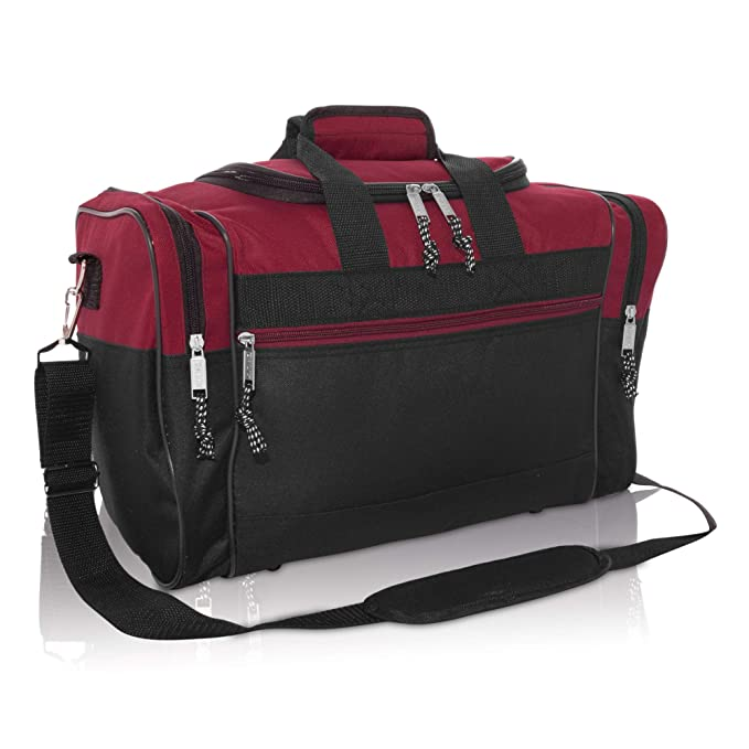 7b11a8a377bc DALIX 17 quot  Blank Duffle Bag Duffel Bag Travel Size Sports Durable Gym  Bag (Maroon