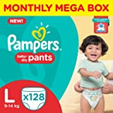 Pampers Large Size Diaper Pants Monthly Box Pack (128 Count)