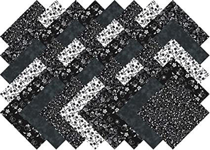 Black And White Quilting Fabric Fabric Blender Collection 40 Precut 5 Inch Squares