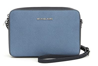 67507546062770 Image Unavailable. Image not available for. Color: MICHAEL Michael Kors Jet  Set Large East/West Cross-Body Bag, Denim/