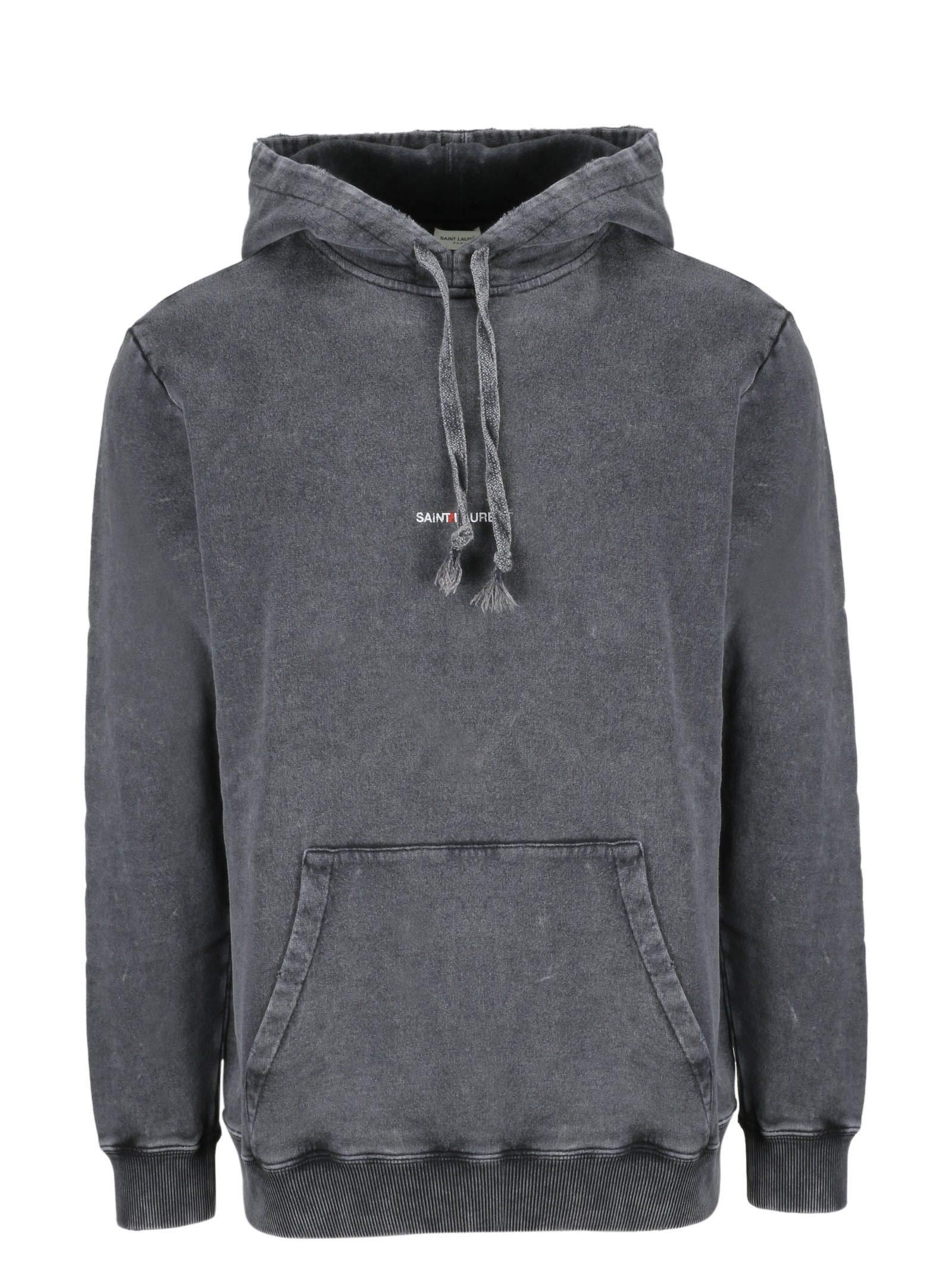 Saint Laurent Men's 500648Yb2mf1059 Grey Cotton Sweatshirt