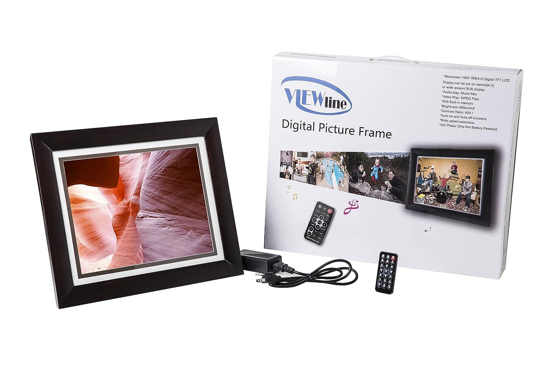 ViewLine 15 inch Digital Picture Frame, 4 GB Ram, Dark Cherry Wood ...