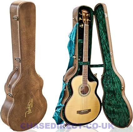 Parker para guitarra acústica Bass Hard Case marrón con higrómetro ...