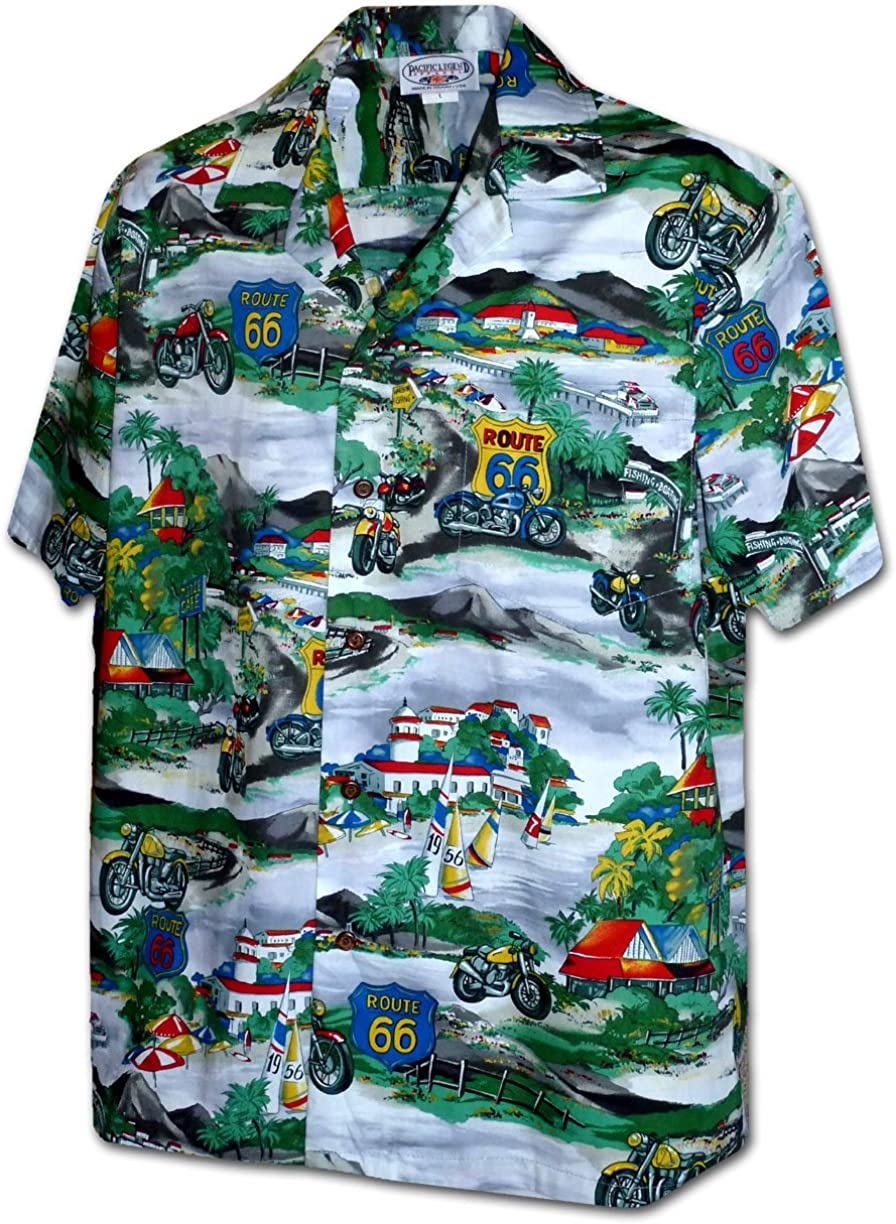 Motorcycle Touring on Route 66 Men's Shirts