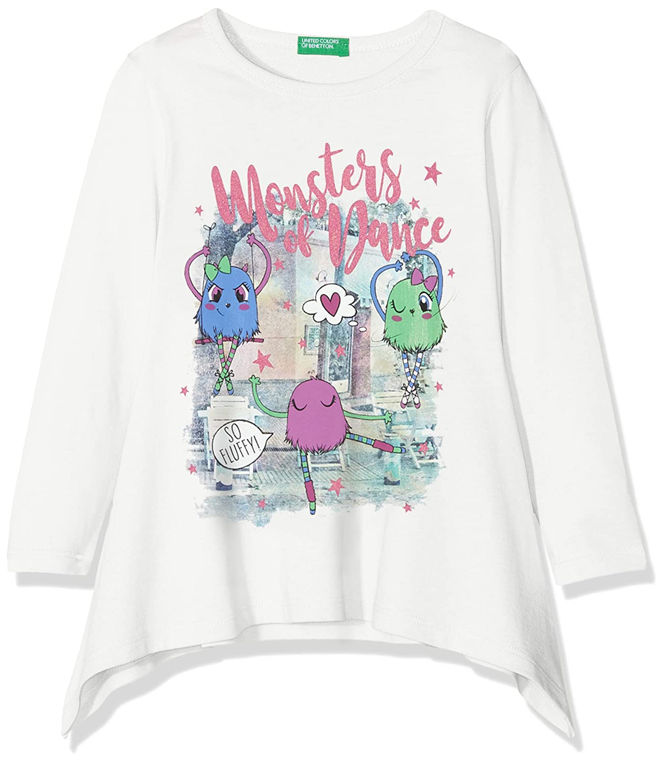 United Colors of Benetton T-Shirt L/S, Bambina 3096C1R0P