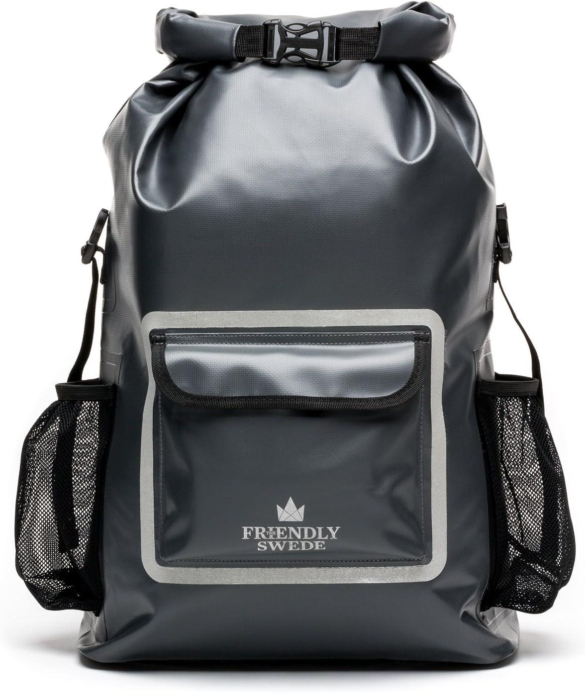 The Friendly Swede Waterproof Backpack Dry Bag 33L, Ergonomic Hiking Rucksack