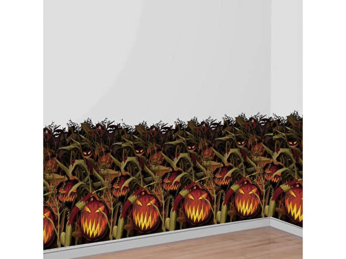 Surprising Amscan Scary Jack O Lantern Room Roll Field Of Screams Halloween Props And Decor Plastic 4 H X 40 L Onthecornerstone Fun Painted Chair Ideas Images Onthecornerstoneorg