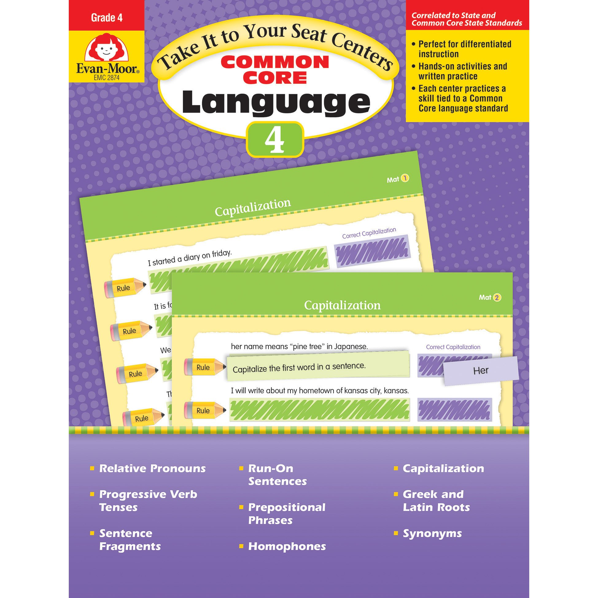 Take It To Your Seat: Language Centers, Grade 4 by EVAN-MOOR