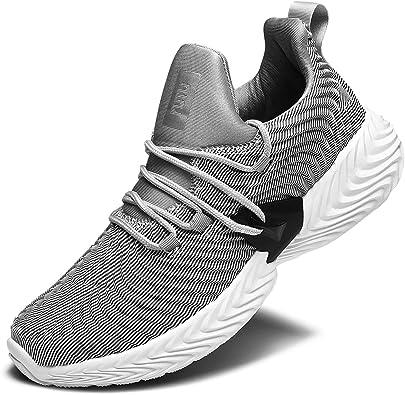 RELANCE - Zapatillas de Running para Hombre, Ligeras, Informales, para Entrenamiento, Deporte, Atletismo, para Entrenamiento, Tenis y Correr, Gris (Gris), 46 EU: Amazon.es: Zapatos y complementos